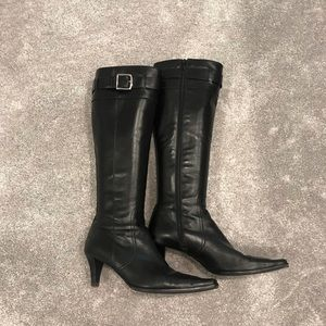 Coach Leather Zip Up Boots